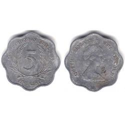 (12) Estados Orientales Caribeños. 1984. 5 Cents (BC)
