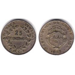 (175) Costa Rica. 1948. 25 Centimos (BC-)