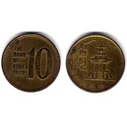 (6a) Corea del Sur. 1972. 10 Won (RC)