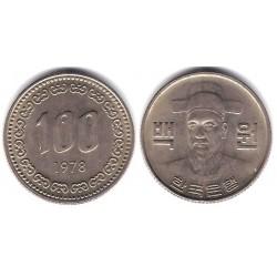 (9) Corea del Sur. 1978. 100 Won (EBC)