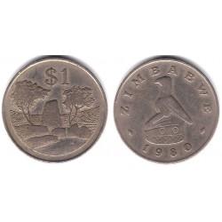 (6) Zimbabue. 1980. 1 Dollar (BC+)