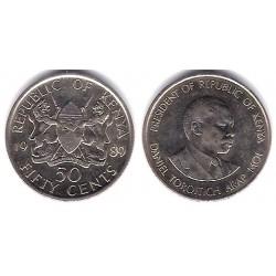 (19) Kenia. 1989. 50 Cents (SC-)