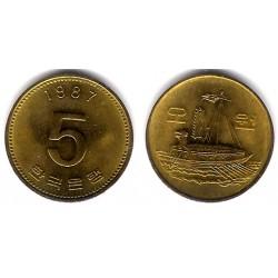 (32) Core del Sur. 1987. 5 Won (SC)