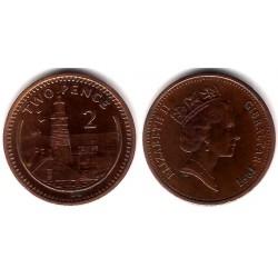 (21) Gibraltar. 1991. 2 Pence (MBC)
