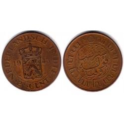 (316) Indias Holandesas. 1945. 2 ½ Cents (BC+)