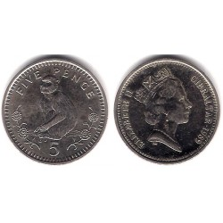 (22) Gibraltar. 1989. 5 Pence (EBC)