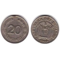 (77.1c) Ecuador. 1969. 20 Centavos (MBC)