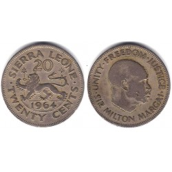 (20) Sierra Leona. 1964. 20 Cents (BC)