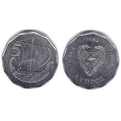 (50.2) Chipre. 1982. 5 Mils (SC)