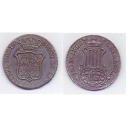 Isabel II. 1841. 6 Cuartos (EBC) Ceca de Cataluña