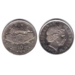 (776) Gibraltar. 1999. 10 Pence (SC)