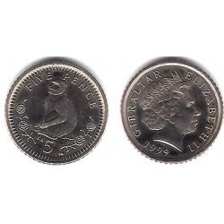 (775) Gibraltar. 1999. 5 Cents (SC)