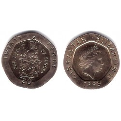 (777) Gibraltar. 1999. 20 Cents (SC)