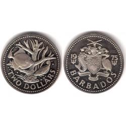 (15) Barbaos. 1975. 2 Dollars (SC)