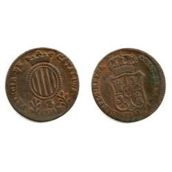 Isabel II. 1841. 3 Cuartos (BC) Ceca de Cataluña