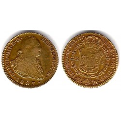 Carlos IV. 1807. 2 Escudos (MBC) (Oro) Ceca de Madrid FA