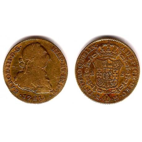 Carlos III. 1781. 2 Escudos (BC+) (Oro) Ceca de Madrid PJ