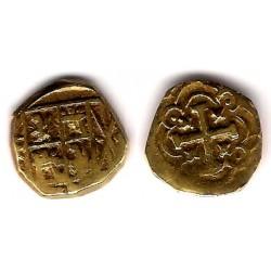 Felipe V. Sin Fecha. 1 Escudo (BC+) (Oro) Ceca de Nuevo Reino F