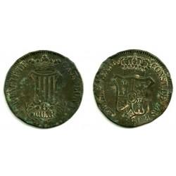 Isabel II. 1840. 6 Cuartos (RC) Ceca de Cataluña