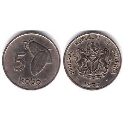 (9.1) Nigeria. 1973. 5 Kobo (MBC)