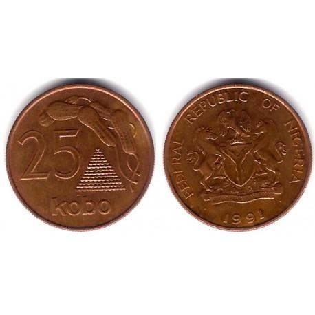 (11a) Nigeria. 1991. 25 Kobo (MBC)