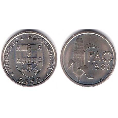 (617) Portugal. 1983 . 2 ½ Escudos (SC)