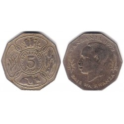 (6) Tanzania. 1972. 5 Shilingi (BC)