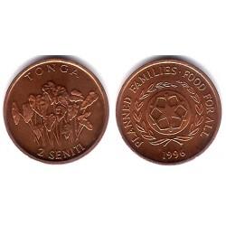 (67) Tonga. 1996. 2 Seniti (EBC+)