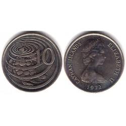(3) Islas Caimán. 1972. 10 Cents (EBC)