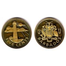 (11) Barbados. 1973. 5 Cents (SC)