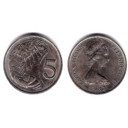 (2) Islas Caimán. 1982. 5 Cents (EBC+)