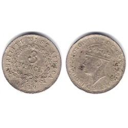 (21) África Oeste Británica. 1939. 3 Pence (BC)