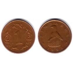 (1a) Zimbabue. 1991. 1 Cent (MBC)