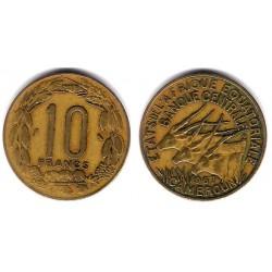 (11) Camerún. 1967. 10 Francs (MBC)