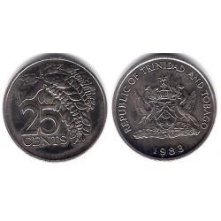 (32) Trinidad y Tobago. 1988. 25 Cents (SC)