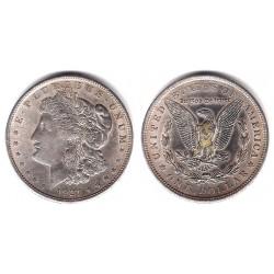 (110) Estados Unidos de América. 1921. 1 Dollar (MBC) (Plata)