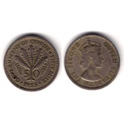 (36) Chipre. 1955. 50 Mils (MBC)