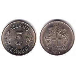 (18) Islandia. 1978. 5 Kronur (EBC)