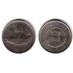(27) Islandia. 1984. 1 Krone (MBC+)