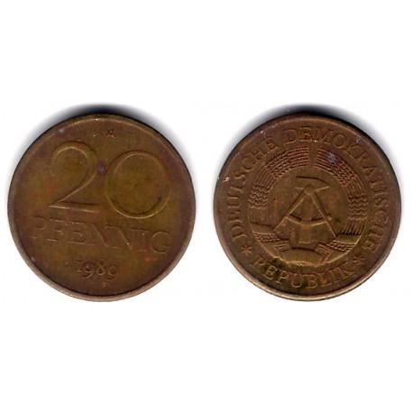 (11) Alemania Democrática. 1989(A). 20 Pfennig (BC-)