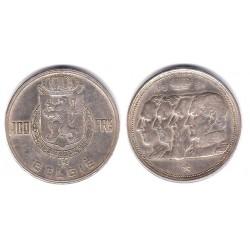 (139.1) Bélgica. 1951. 100 Francs (EBC+) (Plata)