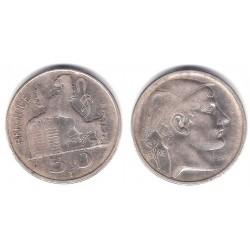 (136.1) Bélgica. 1949. 50 Francs (BC+) (Plata)
