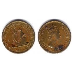 (4) Estados Orientales Caribeños. 1965. 5 Cents (MBC+)