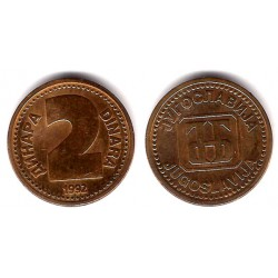 (150) Yugoslavia. 1992. 2 Dinra (EBC+)