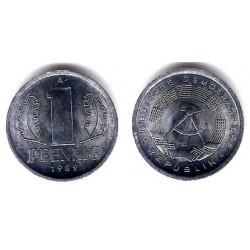 (8.2) Alemania Democrática. 1989(A). 1 Pfennig (SC)