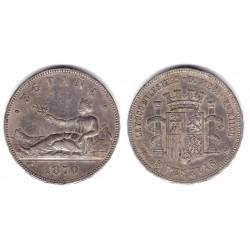 Gobierno Provisional. 1870*(18-70). 5 Pesetas (MBC) (Plata)