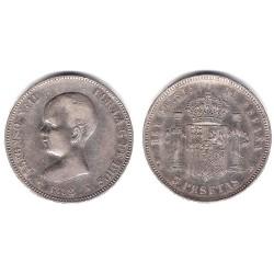 Alfonso XIII. 1892*(18-92). 5 Pesetas (BC) (Plata)