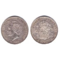 Alfonso XIII. 1892*(18-92). 5 Pesetas (BC+) (Plata) Ceca de Madrid PG-M