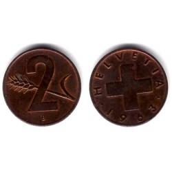 (47) Suiza. 1963(B). 2 Rappen (MBC)