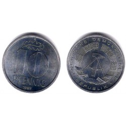 (10) Alemania Democrática. 1989(A). 10 Pfennig (SC)